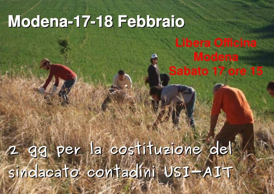 Risultati immagini per modena sindacato contadino 17 febbraio